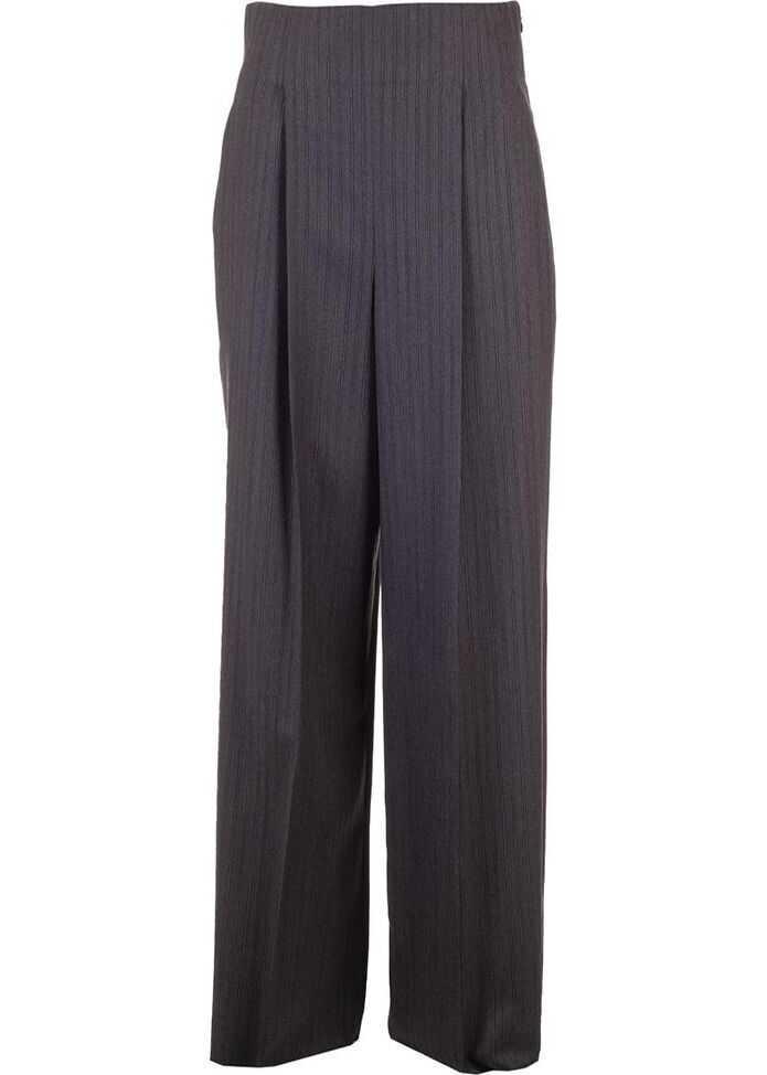 Salvatore Ferragamo Wool Pants GREY