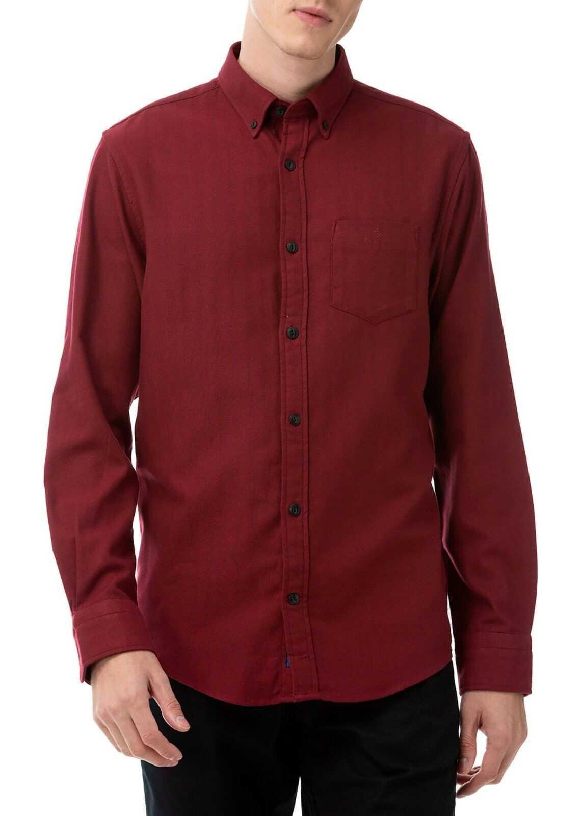 GANT Cotton Shirt BURGUNDY