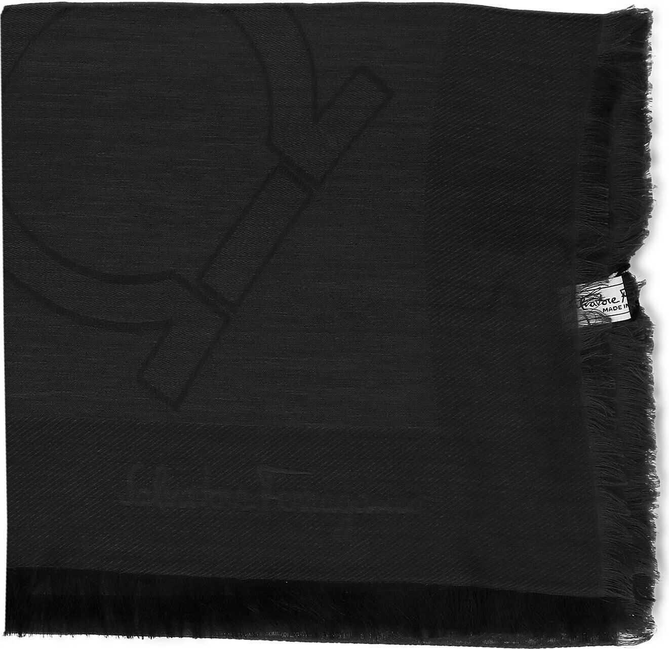 Salvatore Ferragamo Silk Foulard BLACK