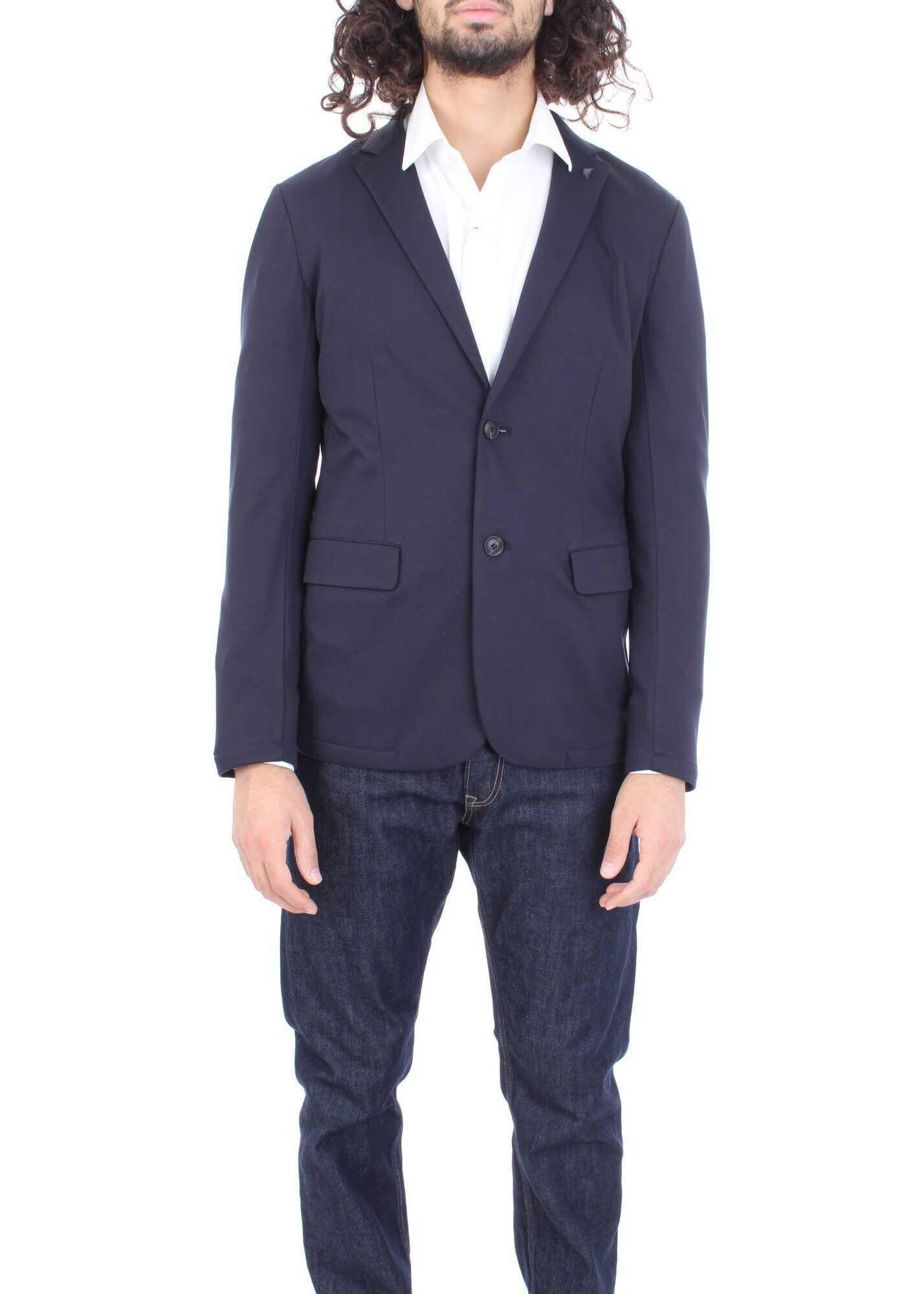 Emporio Armani Cotton Blazer BLUE