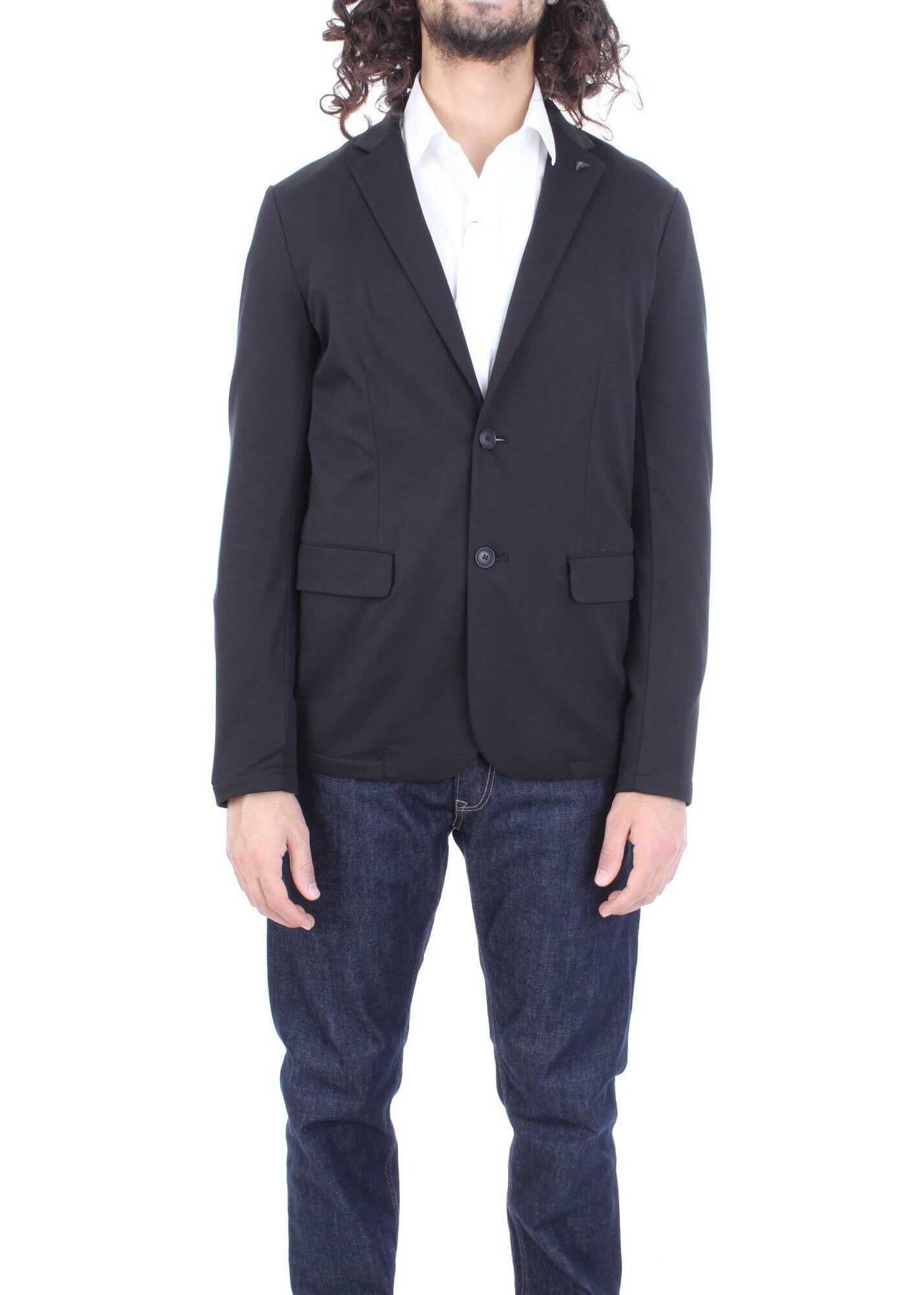 Emporio Armani Cotton Blazer BLACK