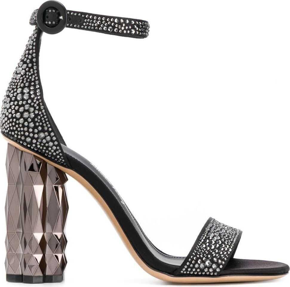 Salvatore Ferragamo Leather Sandals BLACK