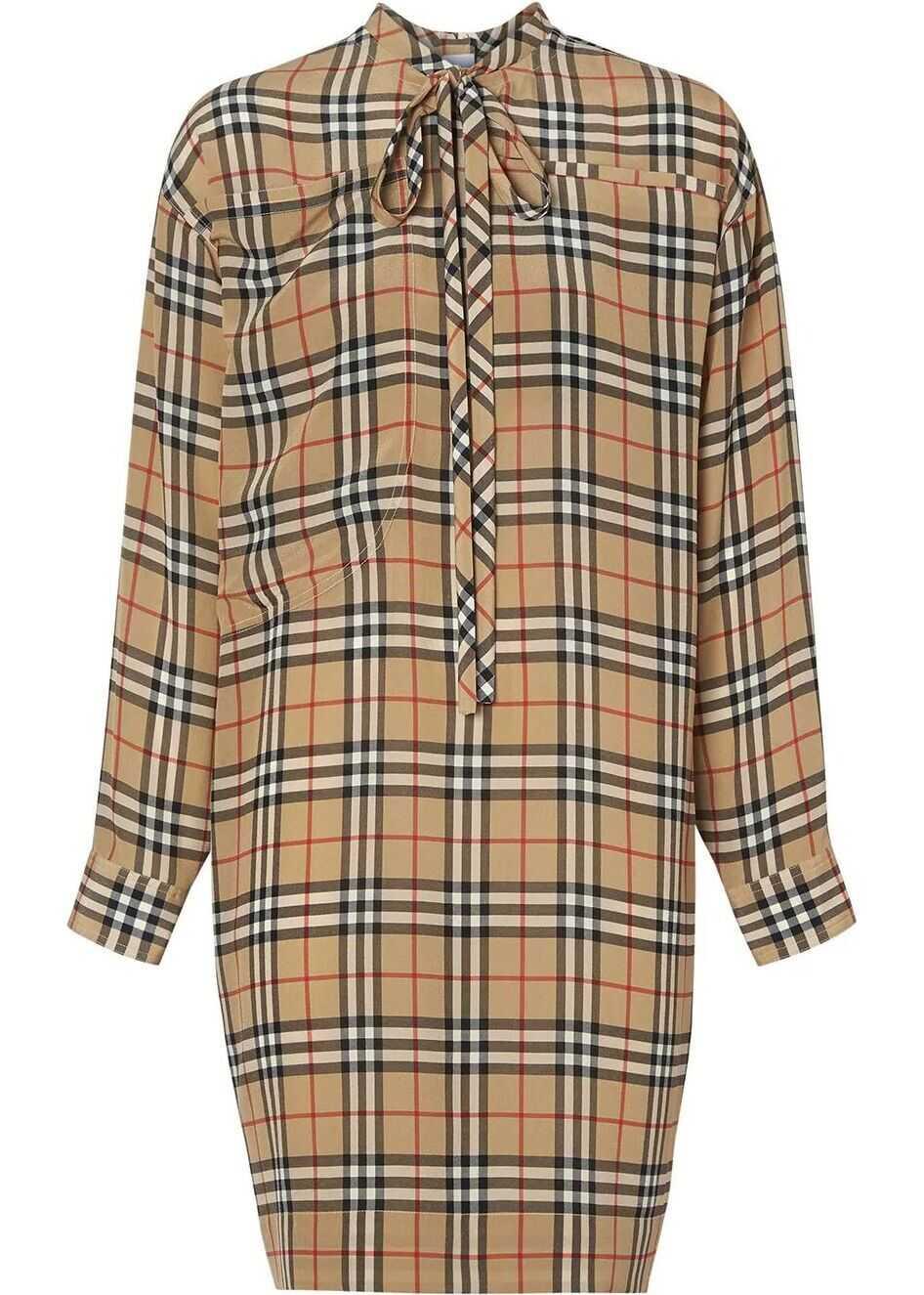 Burberry Silk Dress BEIGE