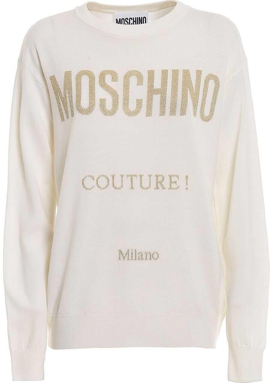 Moschino Wool Sweater WHITE