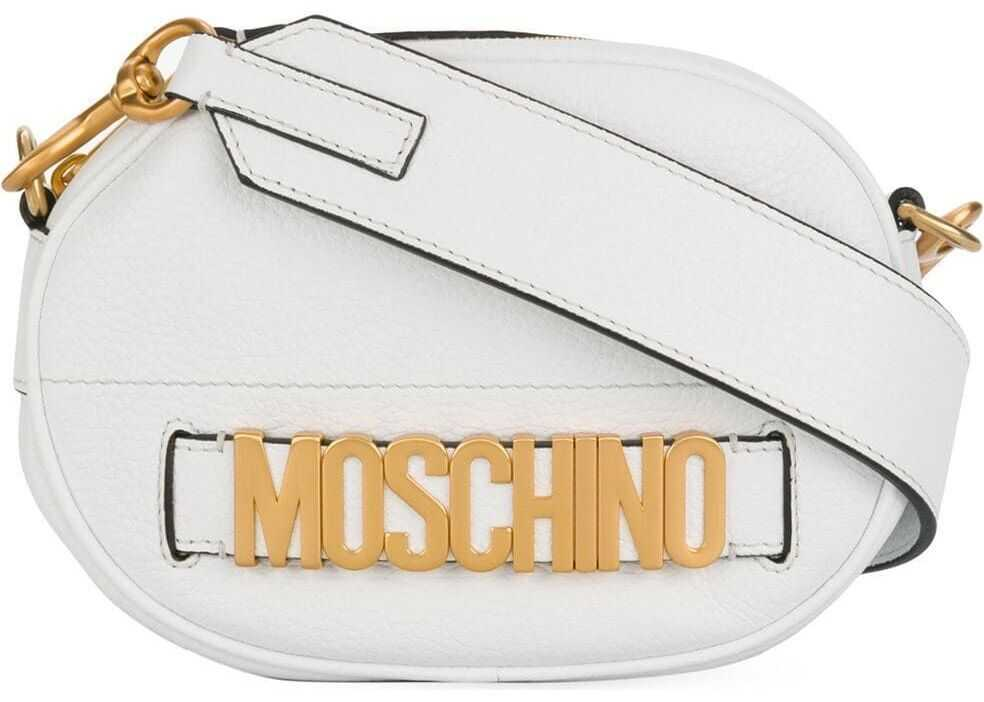 Moschino Leather Shoulder Bag WHITE