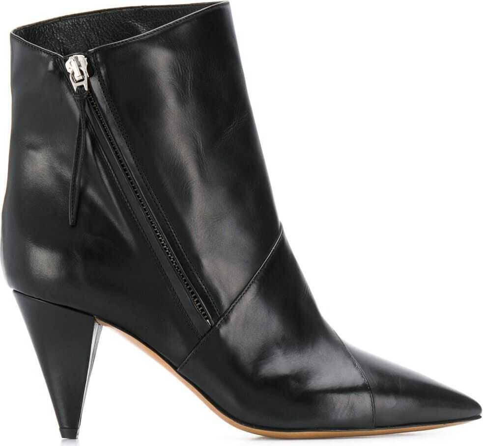 Isabel Marant Leather Ankle Boots BLACK