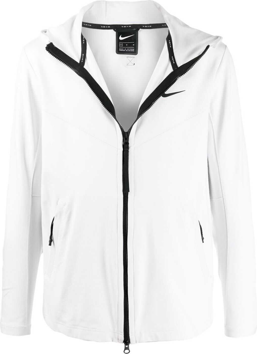 Nike Polyester Outerwear Jacket WHITE