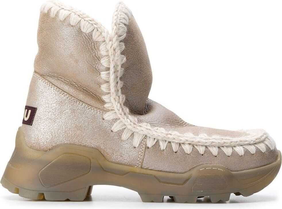 Mou Leather Ankle Boots BRONZE