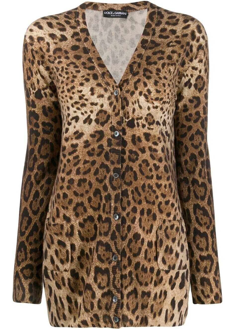 Dolce & Gabbana Cashmere Cardigan BROWN