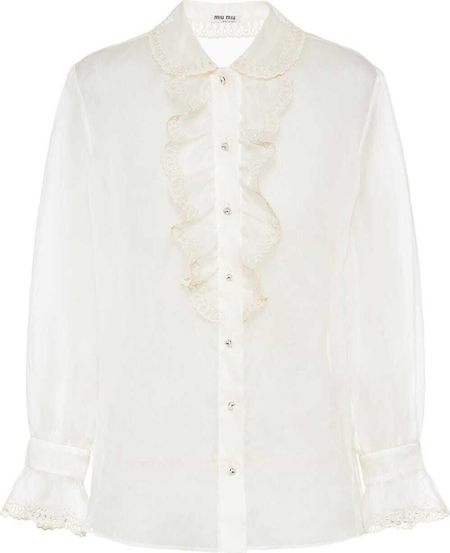 Miu Miu Silk Shirt WHITE