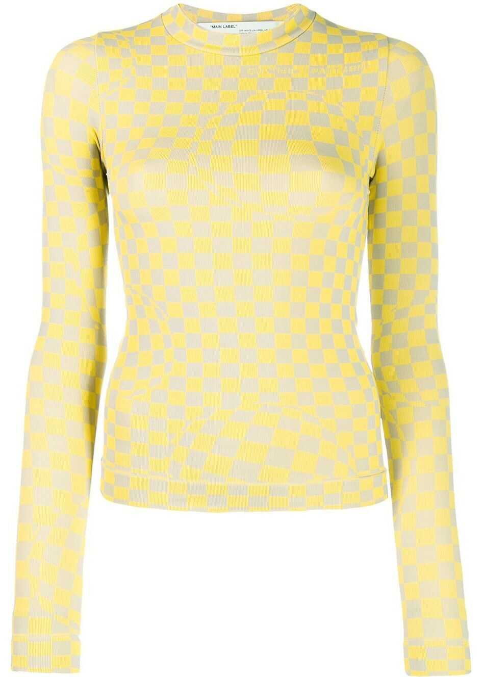 Off-White Polyamide Sweater YELLOW