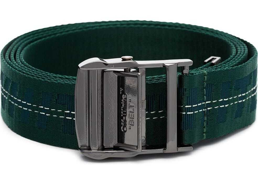 Off-White Synthetic Fibers Belt GREEN