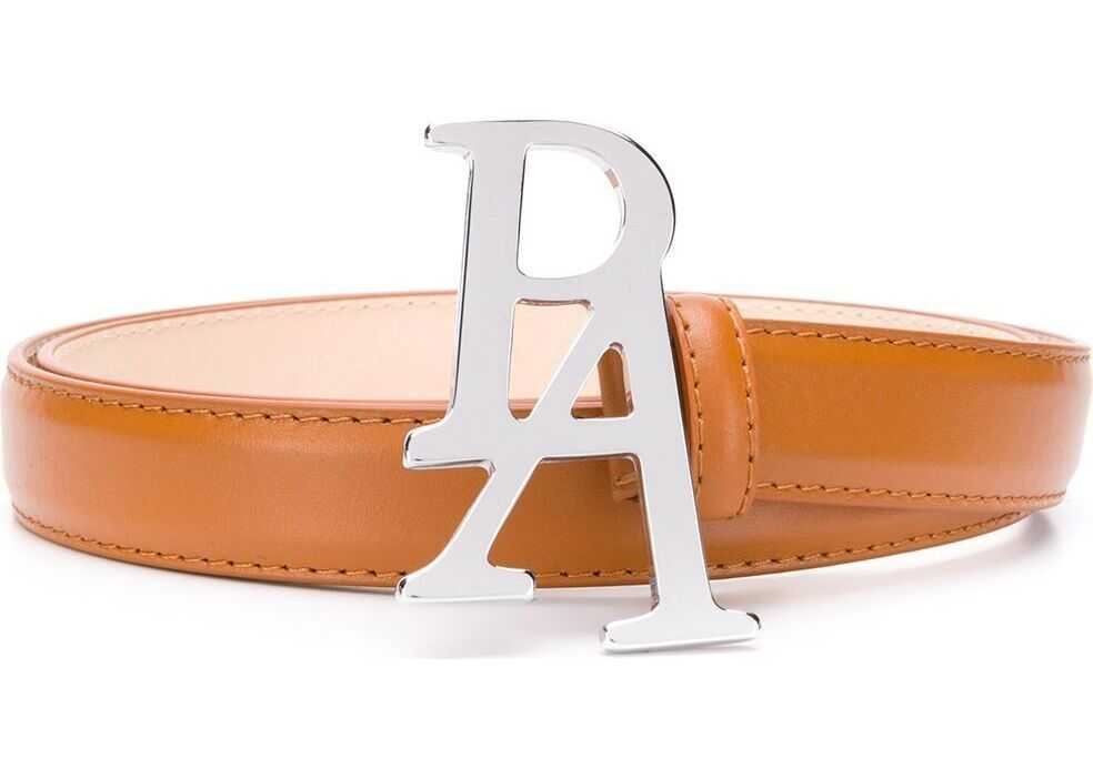 Palm Angels Leather Belt BROWN