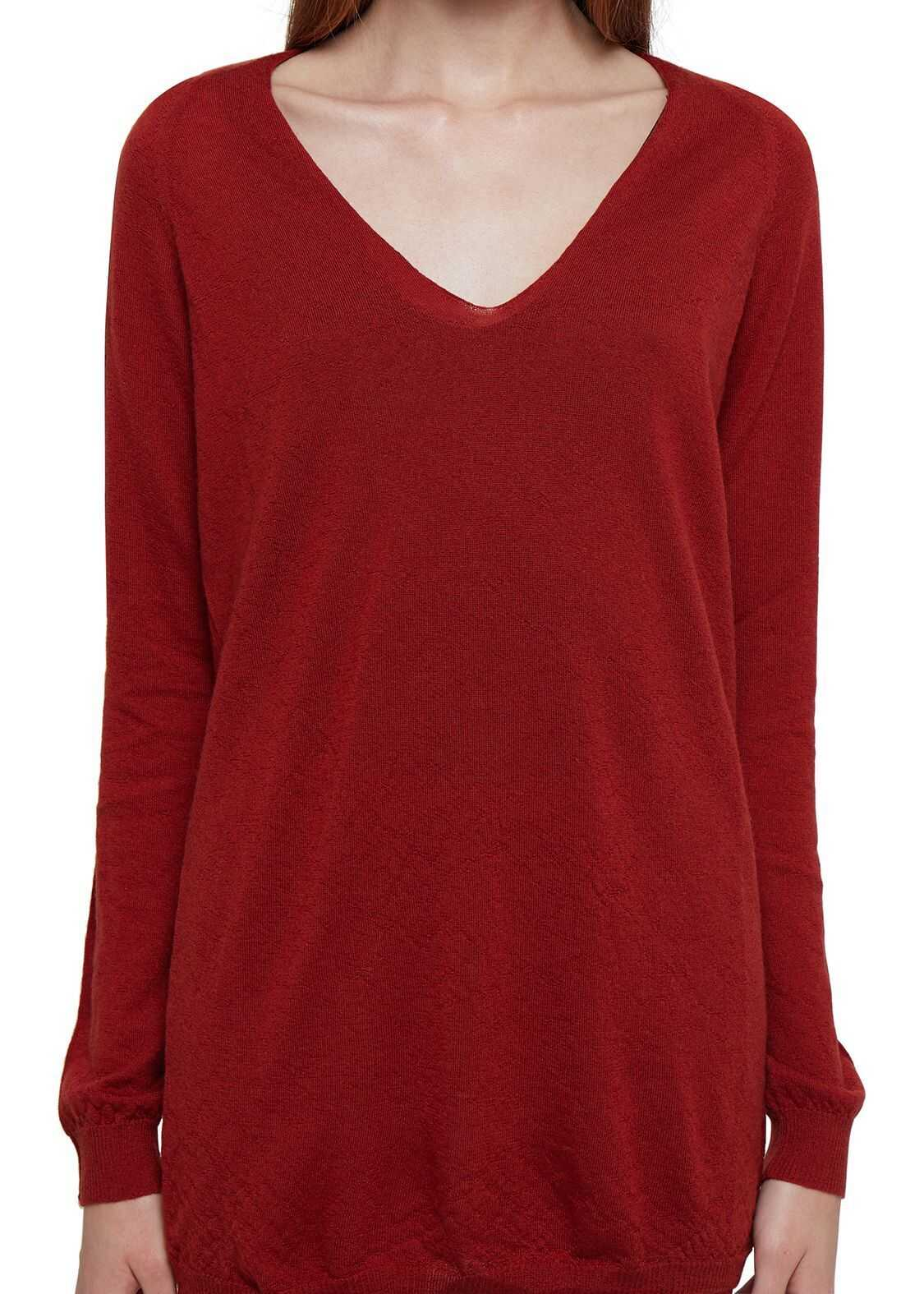Rick Owens Cashmere Sweater RED