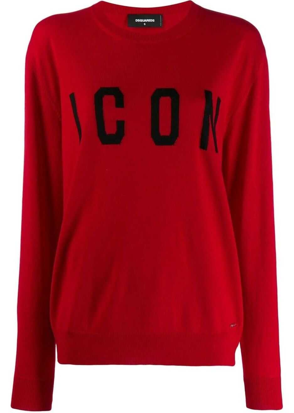 DSQUARED2 Wool Sweater RED