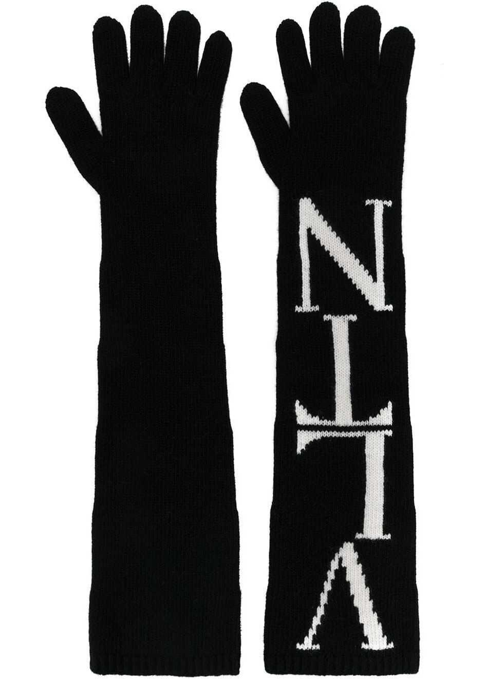 Valentino Garavani Wool Gloves BLACK