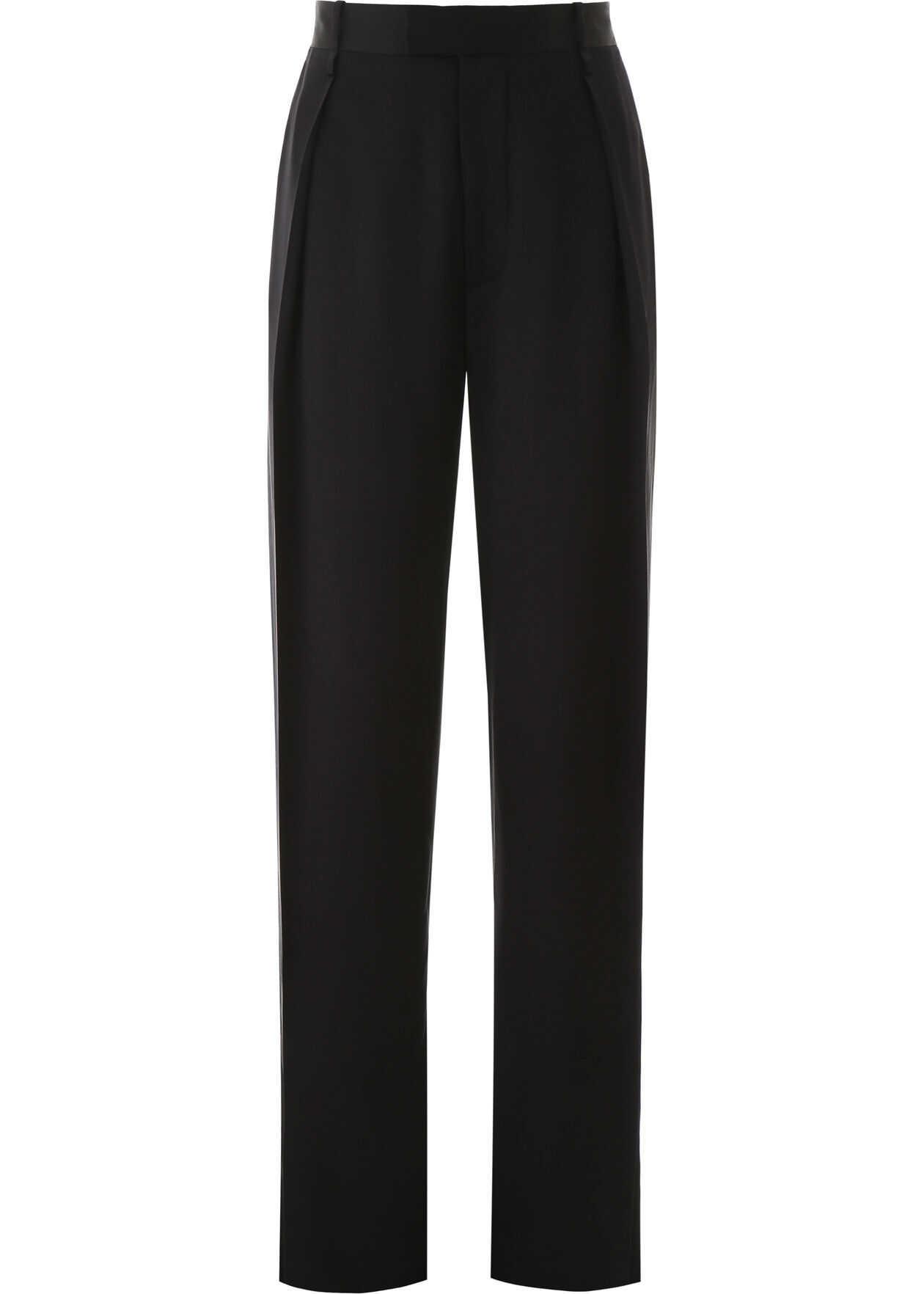Bottega Veneta Silk Trousers NERO