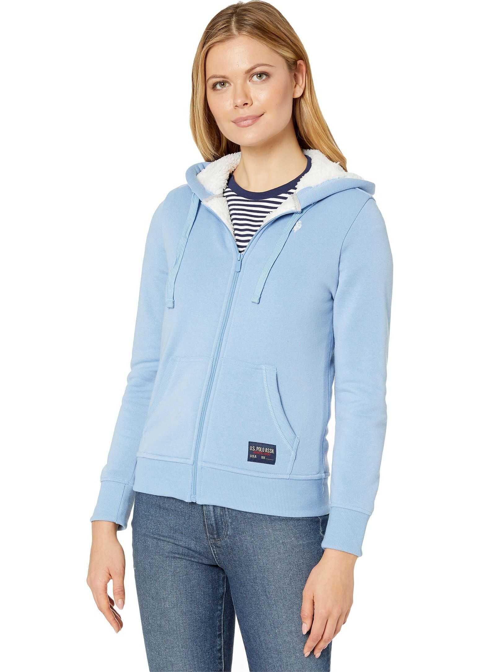 U.S. POLO ASSN. Fleece Hoodie Light Blue