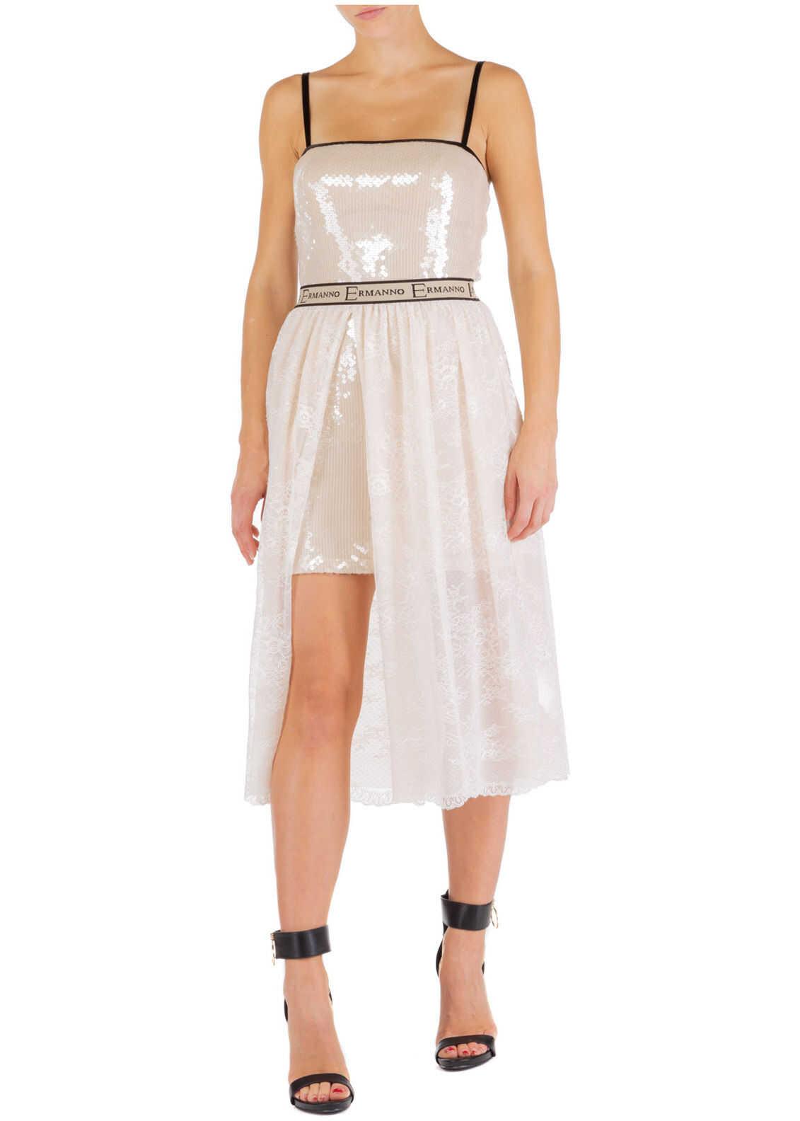 Ermanno di Ermanno Scervino Lace Dress Pink