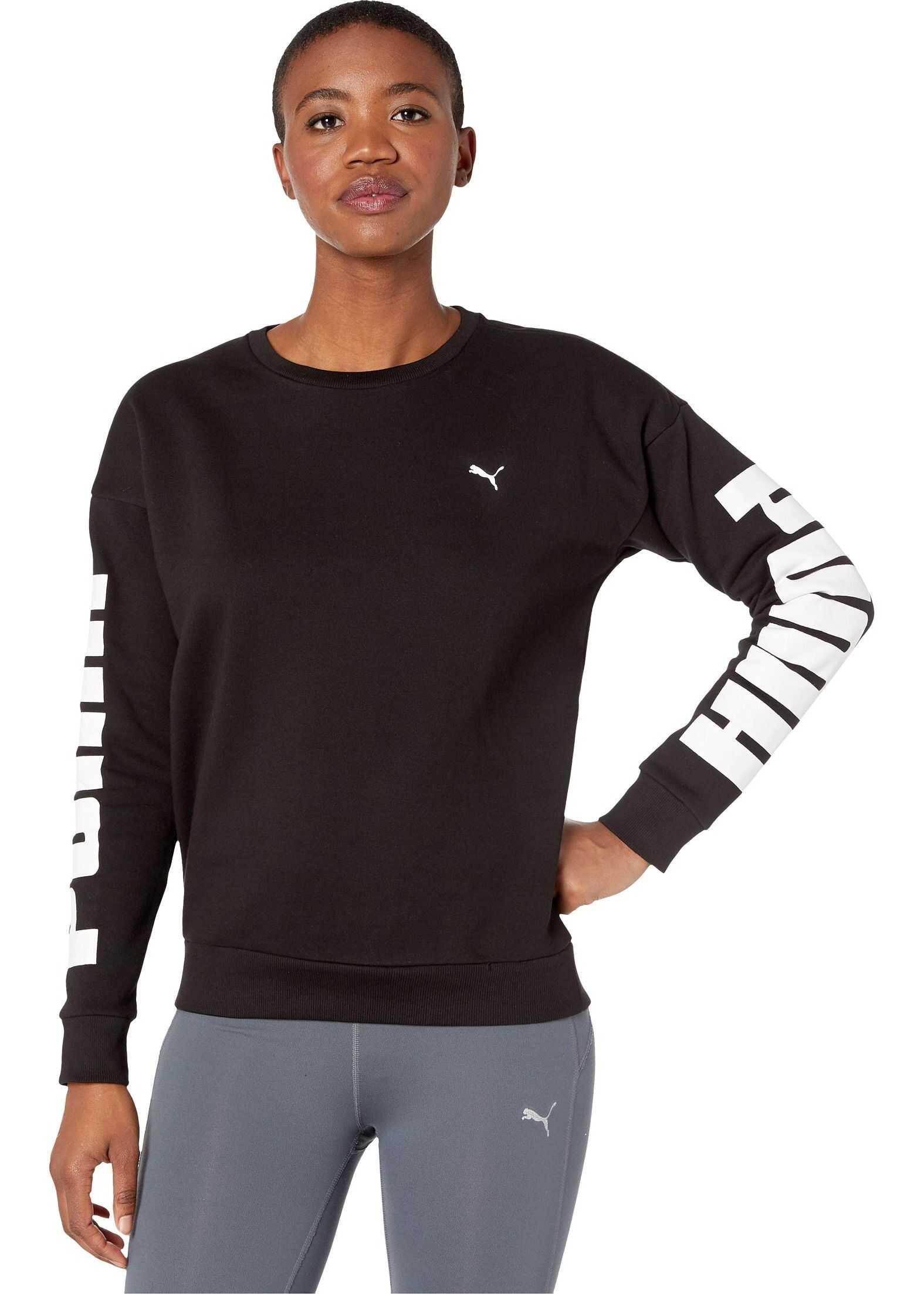 PUMA Rebel Fleece Crew Sweatshirt PUMA Black