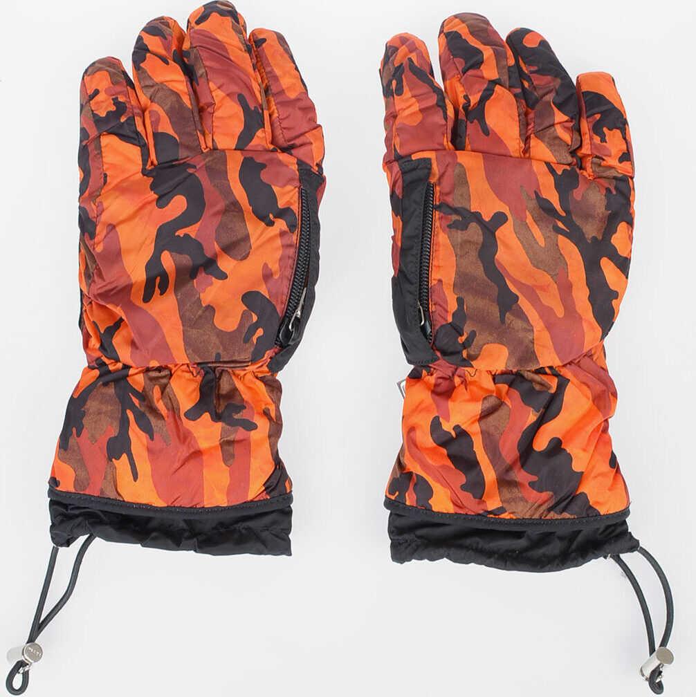 Prada Camouflage Ski Gloves ORANGE