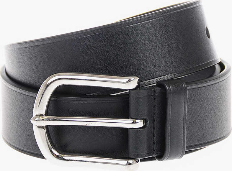 Prada 30mm Visible Stitching Belt BLACK
