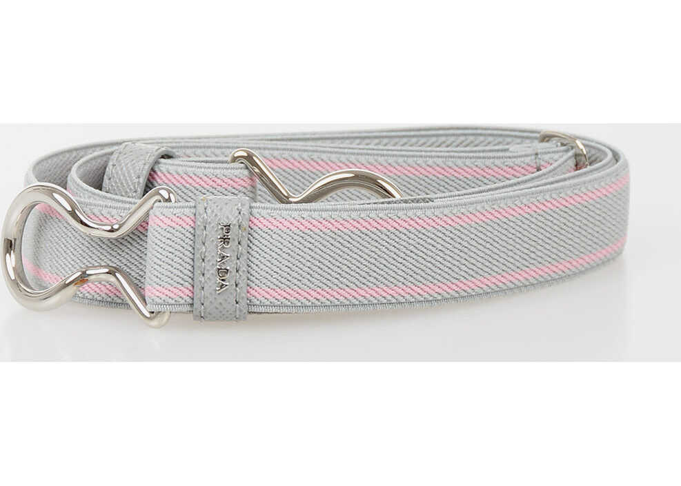 Prada 20mm Stretch Belt GRAY