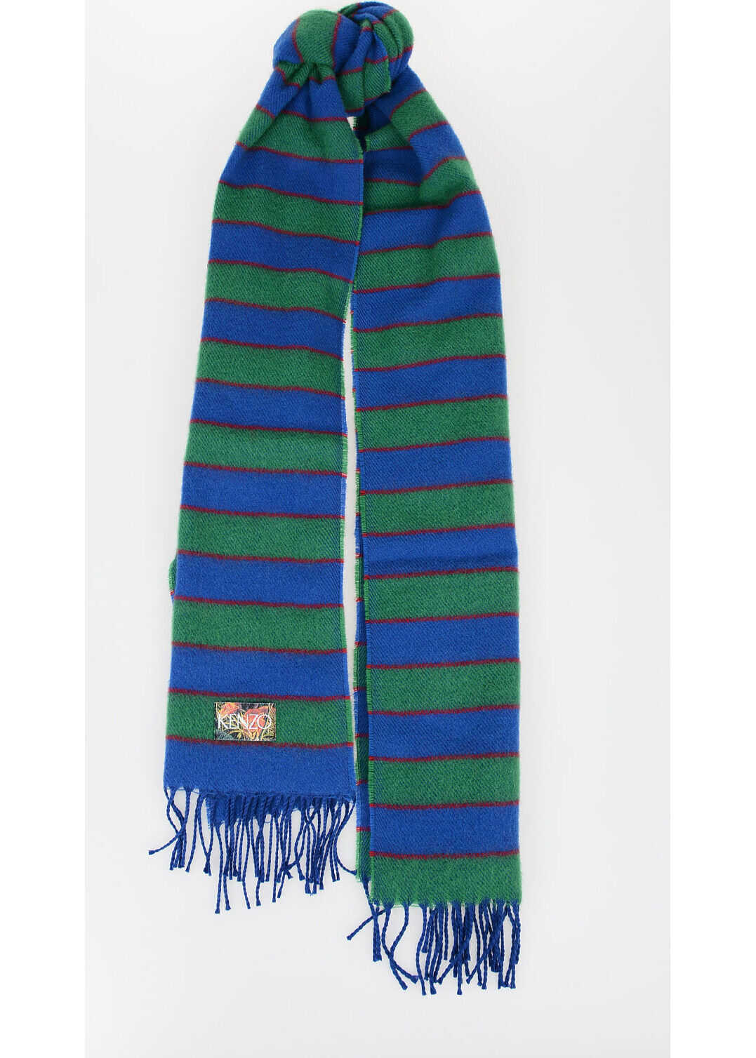 Kenzo MEMENTO COLLECTION 3 Wool Striped Scarf MULTICOLOR