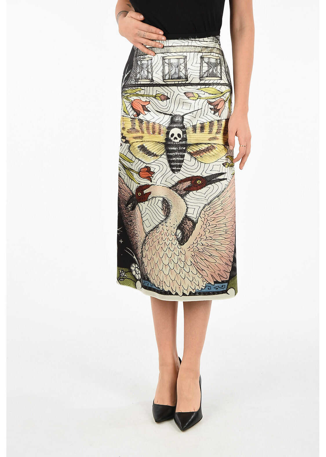 Gucci Printed A-Line Skirt MULTICOLOR