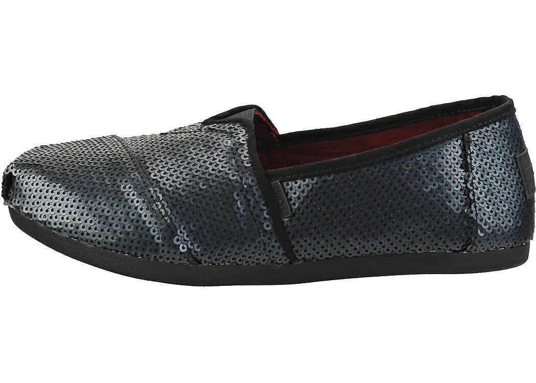 TOMS Classic Sequin Slip On Shoes In Black Black
