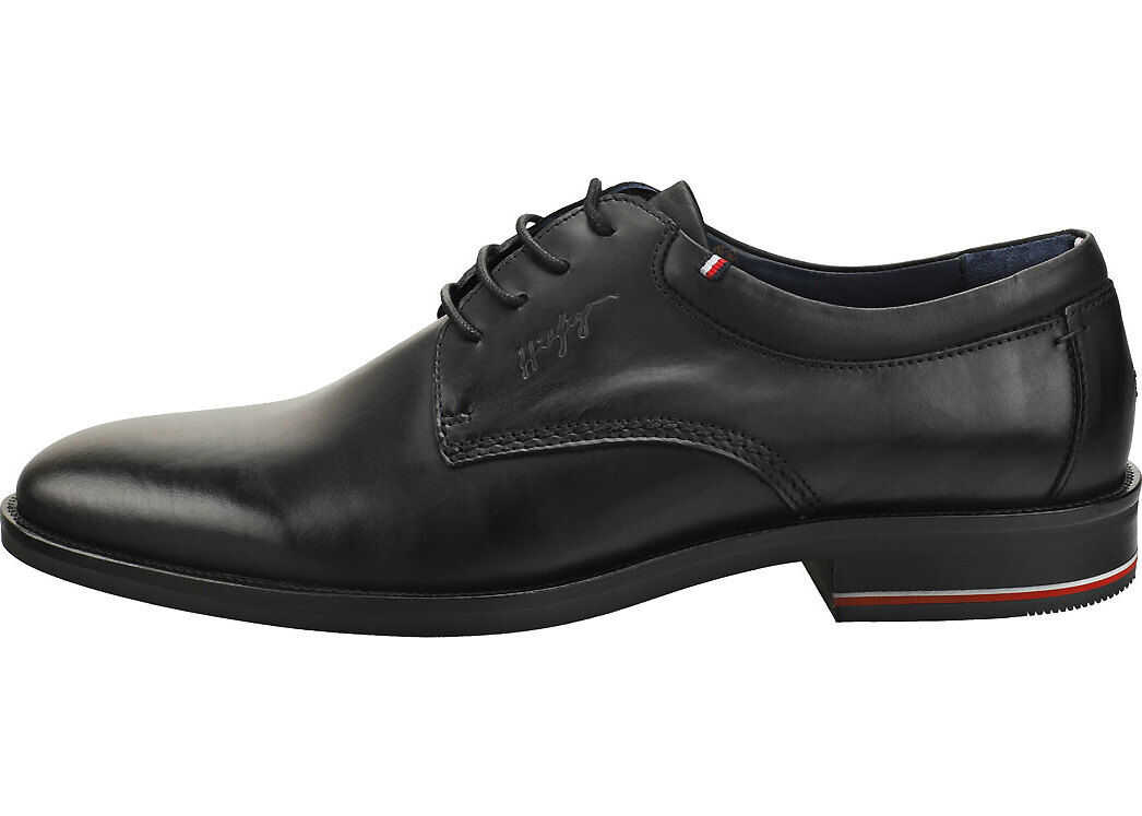 Tommy Hilfiger Signature Smooth Smart Shoes In Black Black