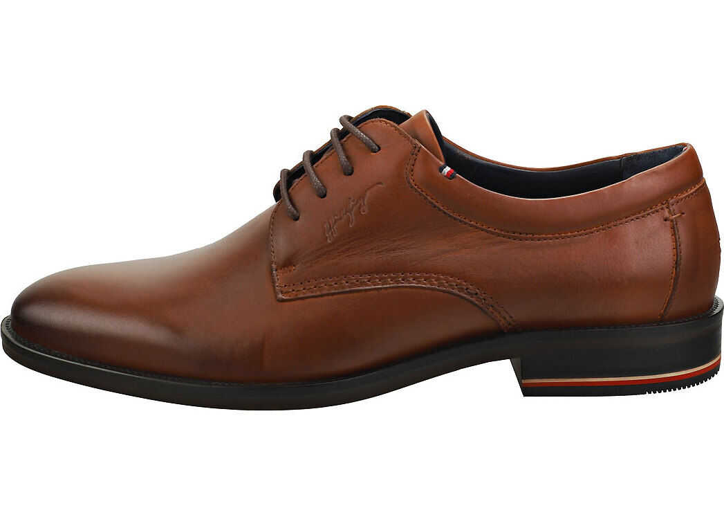 Tommy Hilfiger Signature Smooth Smart Shoes In Brown Brown