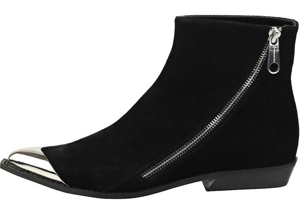 Calvin Klein Anneke Ankle Boots In Black Black