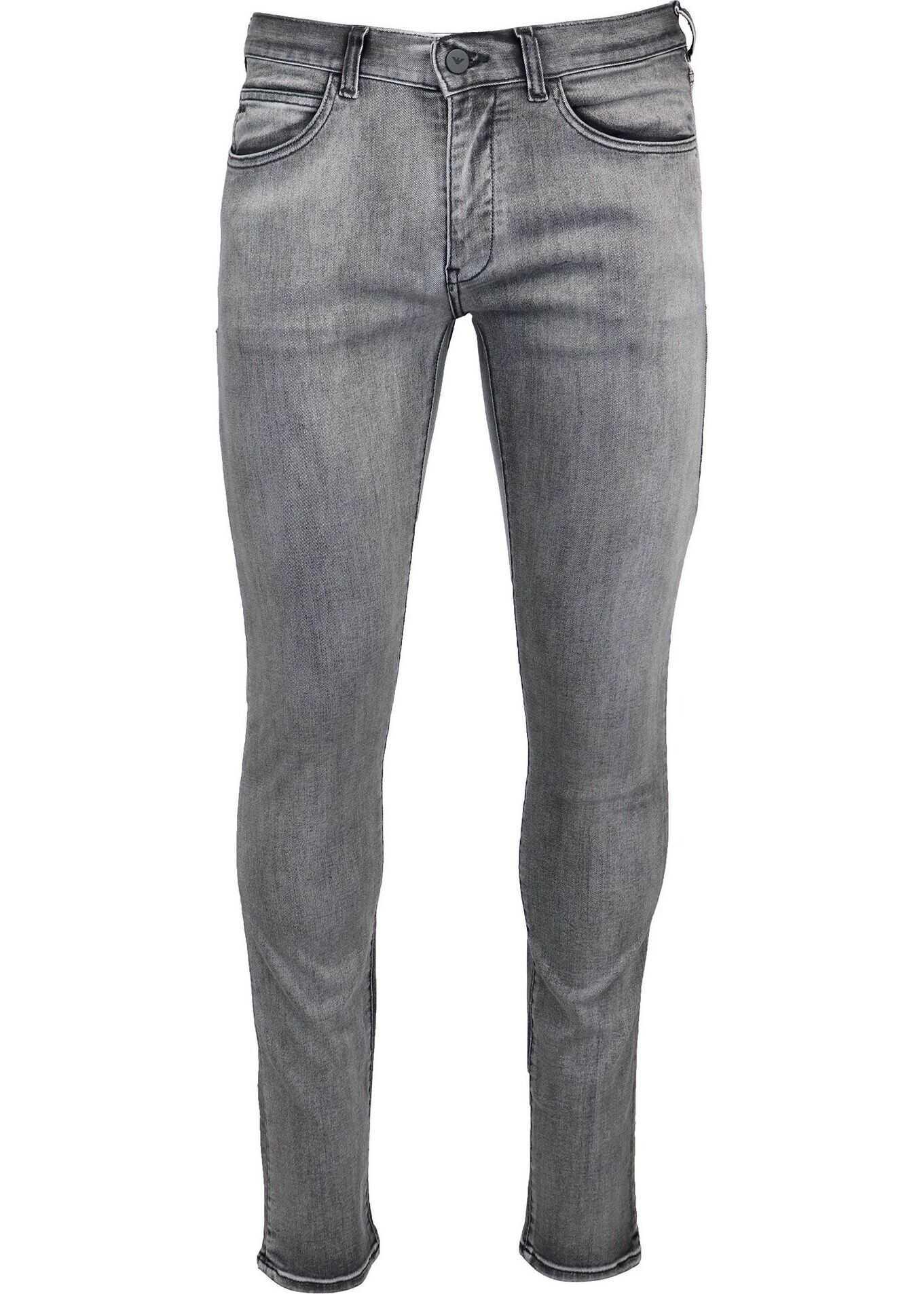 Emporio Armani Cotton Jeans GREY