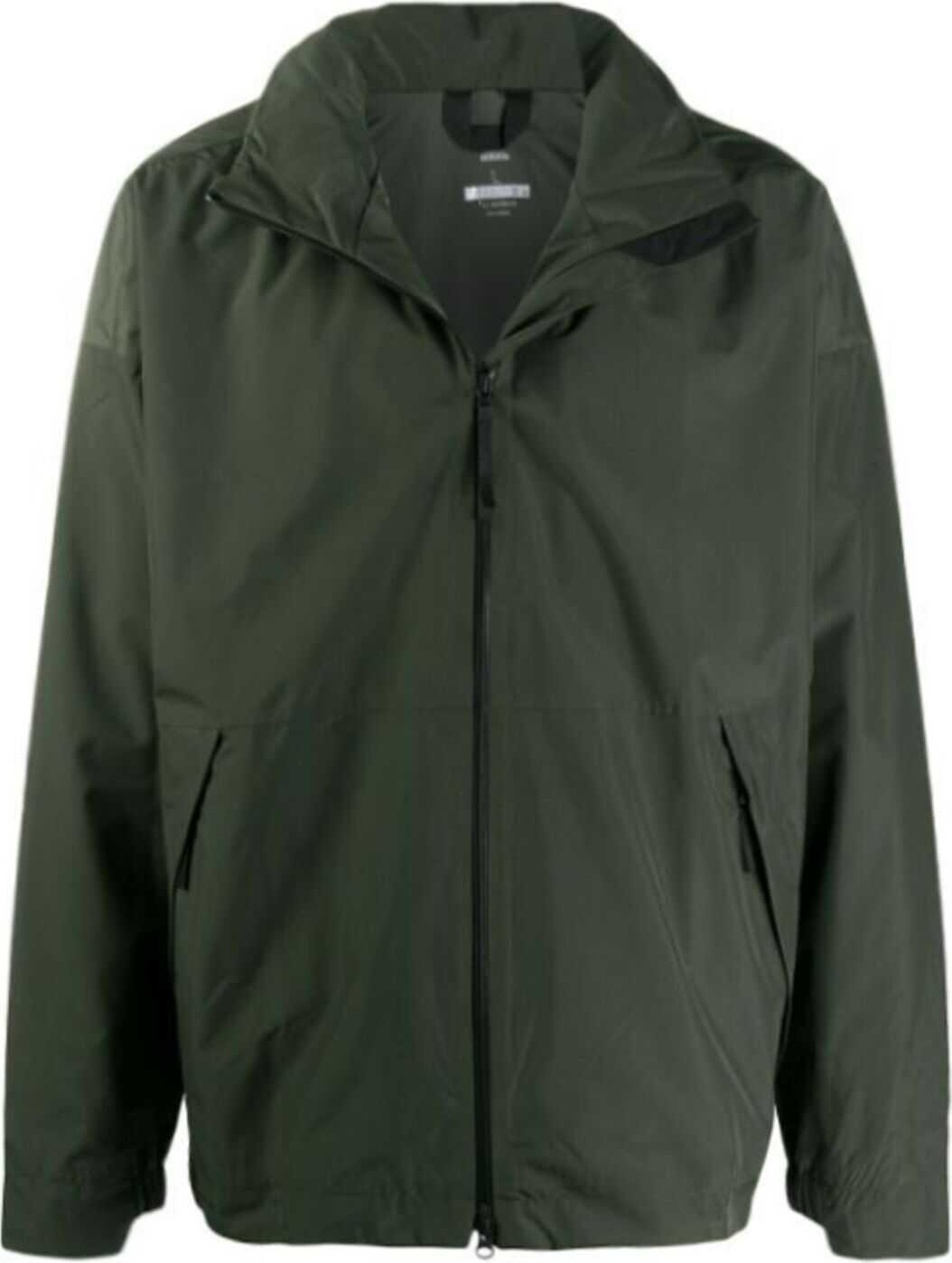 adidas Polyester Outerwear Jacket GREEN