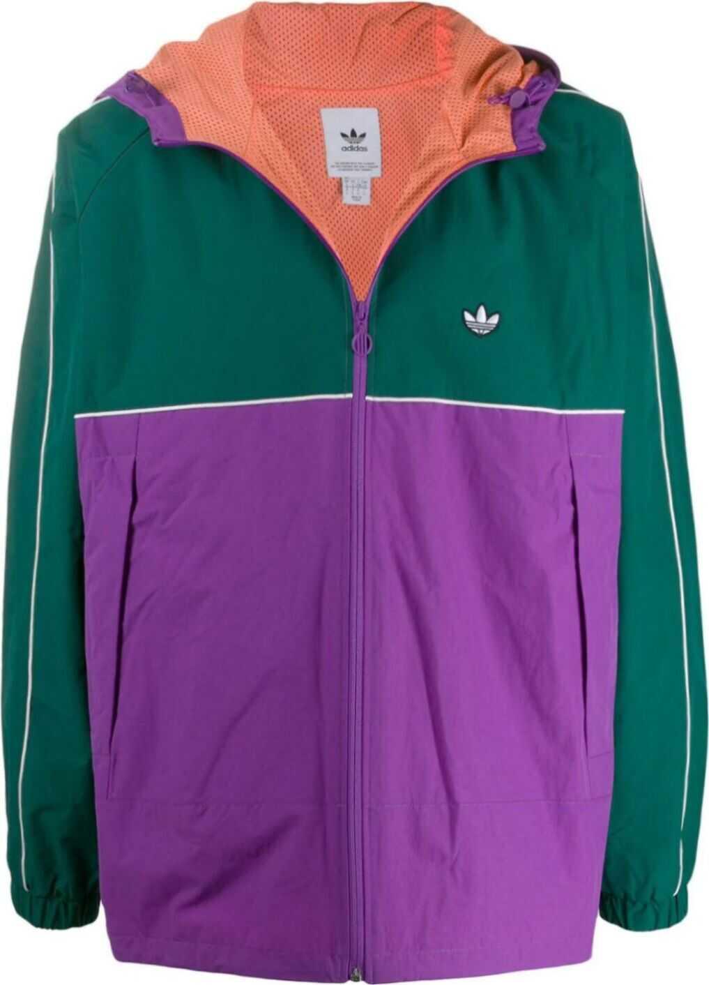 adidas Polyamide Outerwear Jacket PURPLE