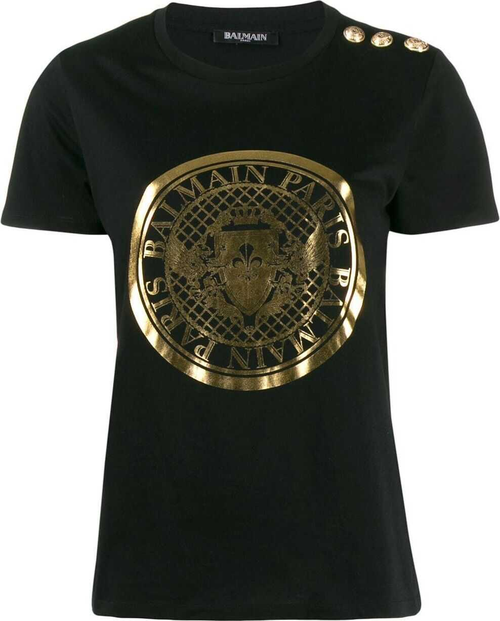 Balmain Cotton T-Shirt BLACK