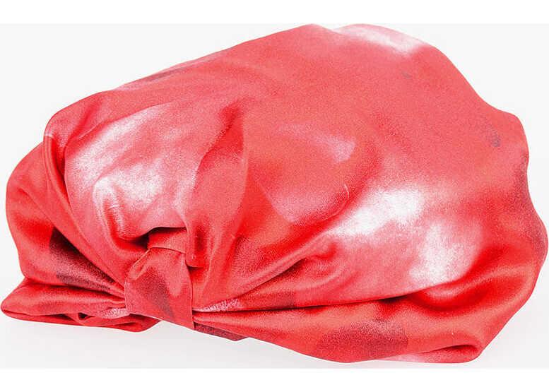 Valentino Garavani Silk Printed Turban RED