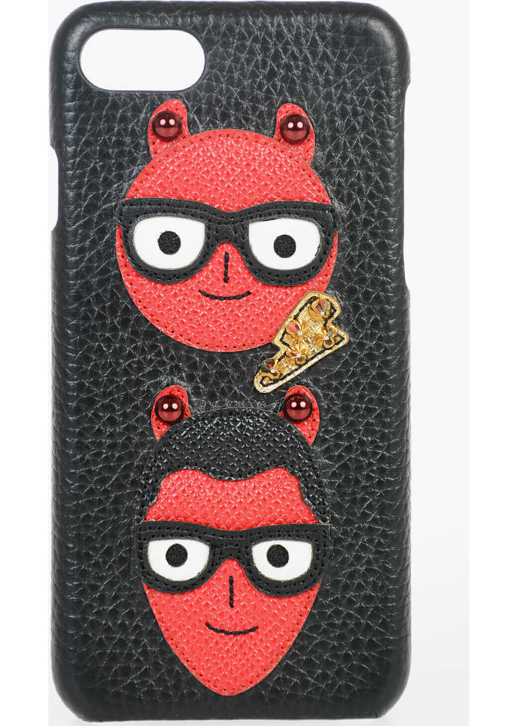 Leather Iphone 7 Cover with DESIGNERS Patches thumbnail