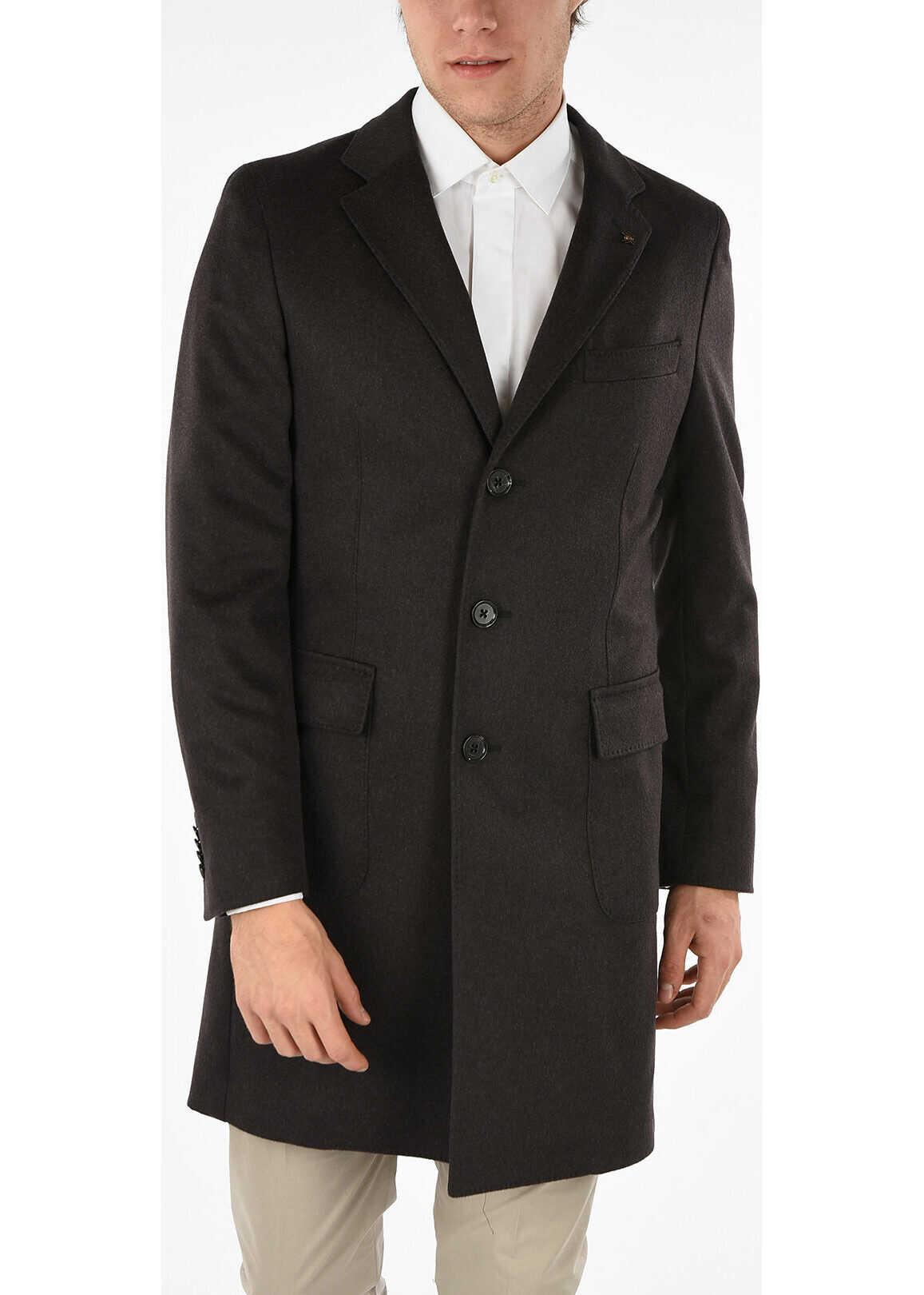 CORNELIANI CC COLLECTION Cashmere 3 Button Chesterfield Coat BROWN
