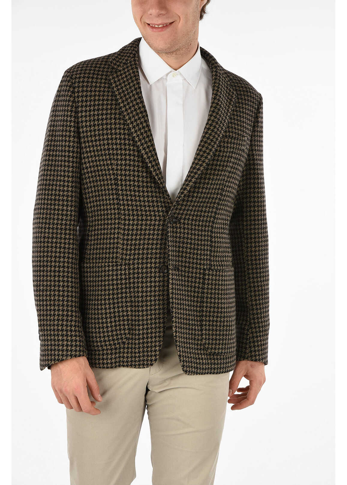 Houndstooth Single Breasted Blazer thumbnail