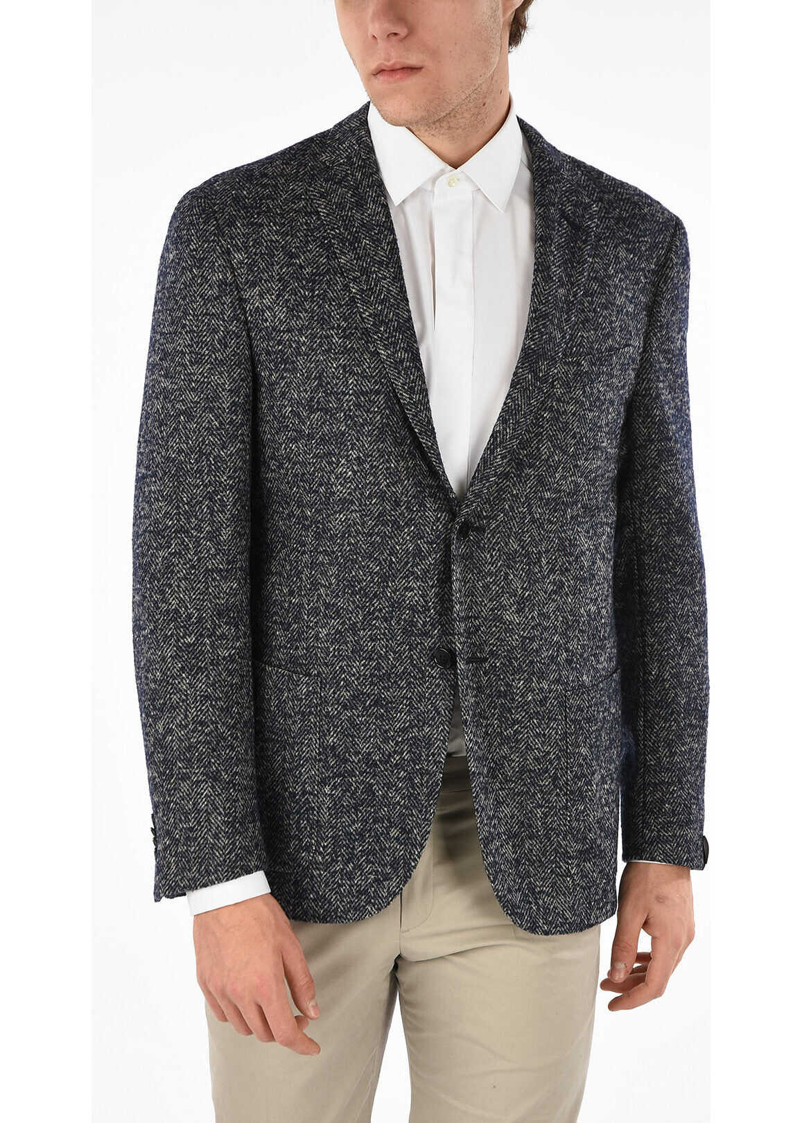 Herringbone 2 Button Blazer thumbnail