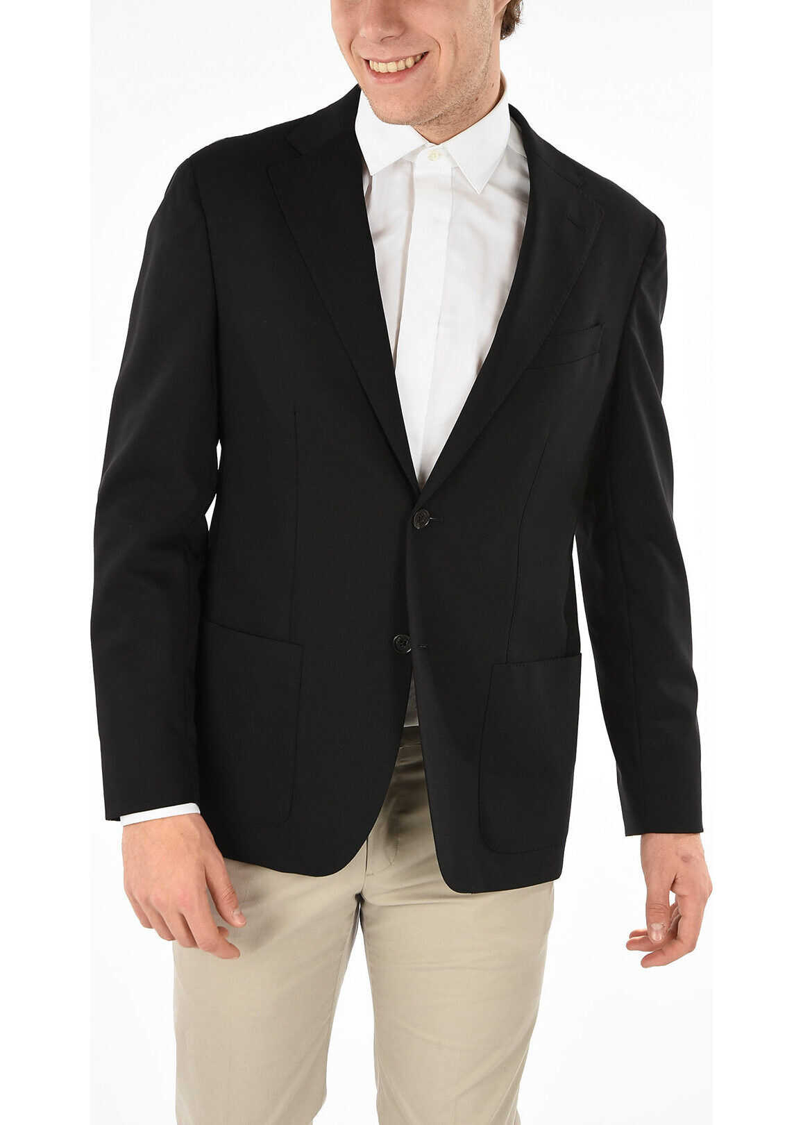CC COLLECTION Stretchy Wool Blazer with Side Vents thumbnail