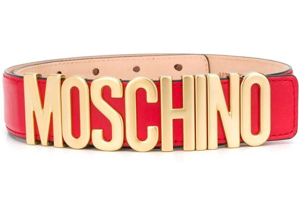 Moschino Leather Belt RED