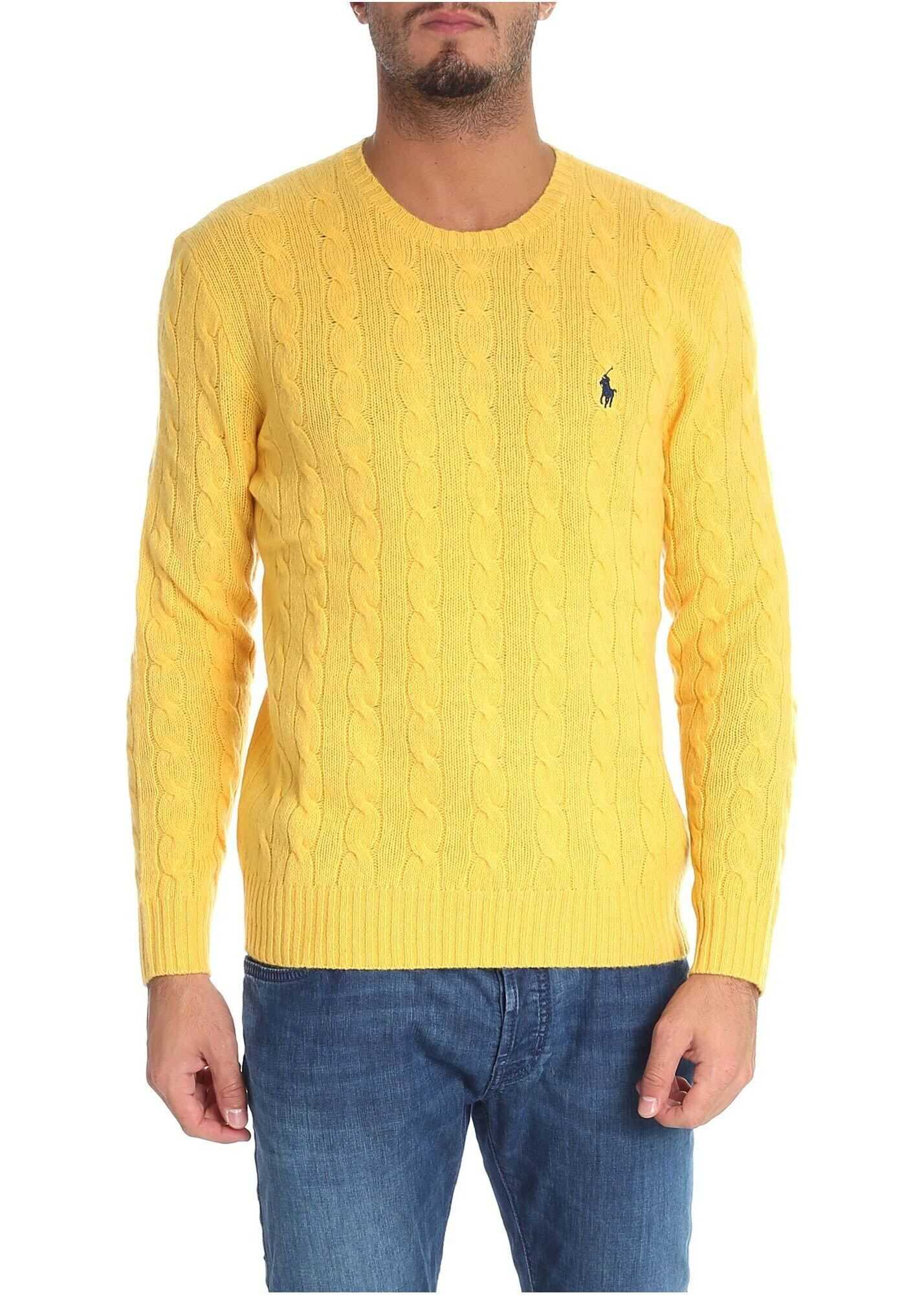 Ralph Lauren Yellow Cable Knitted Pullover* Yellow