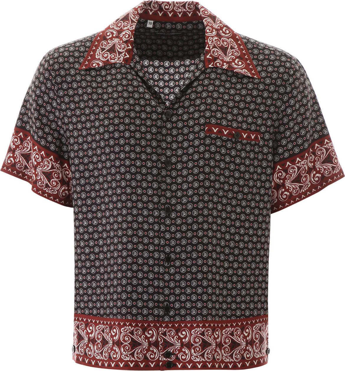Dolce & Gabbana Bandana Print Hawaii Shirt BANDANA 24 F ROSSO