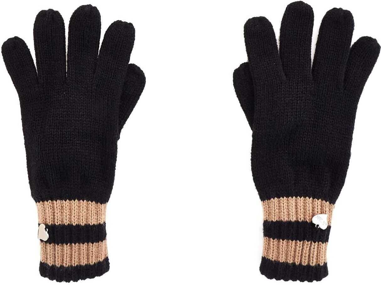 GUESS Acrylic Gloves BLACK