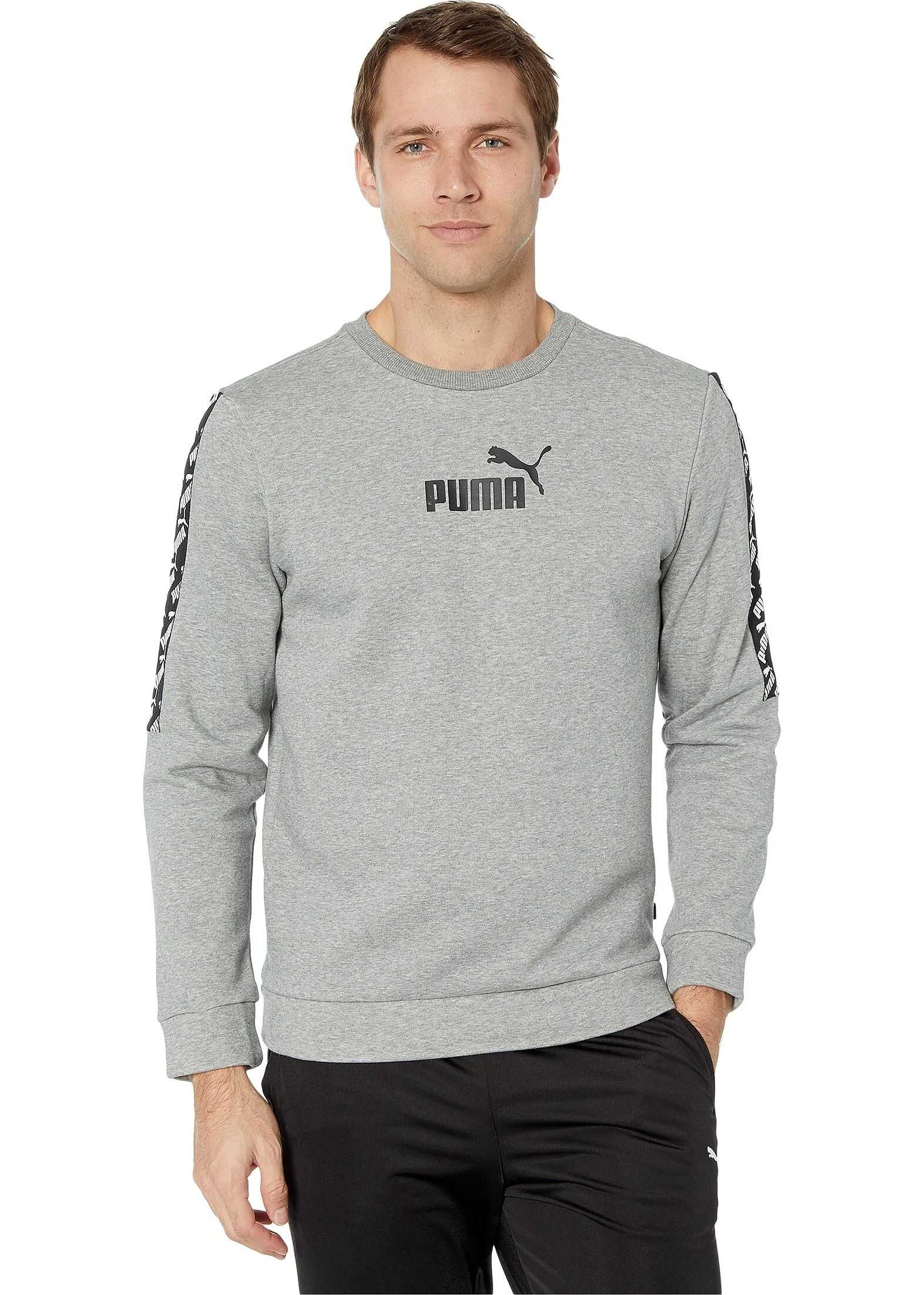 PUMA Amplified Fleece Crew Medium Grey Heather
