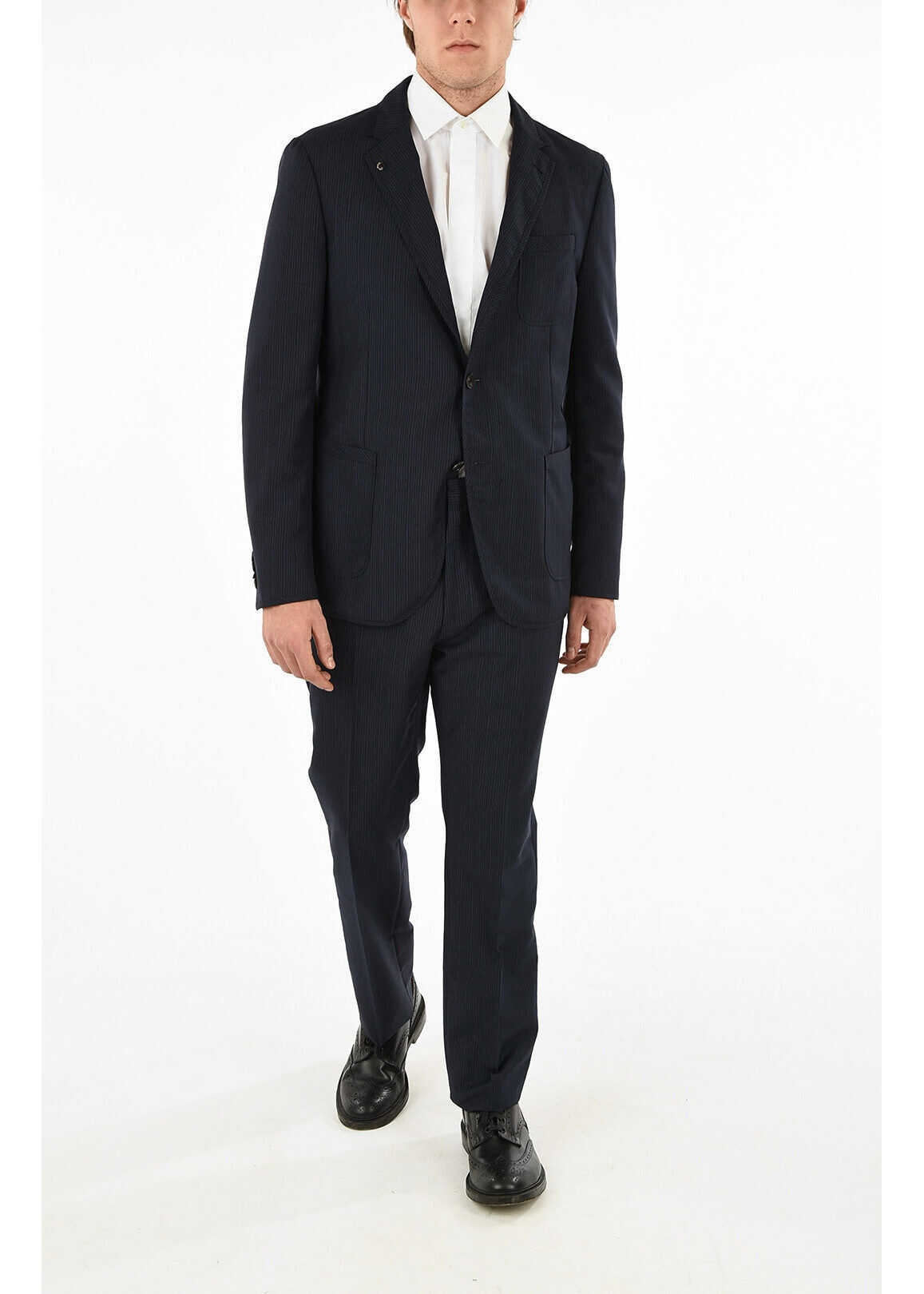 Virgin Wool Blend Stripe Suit thumbnail