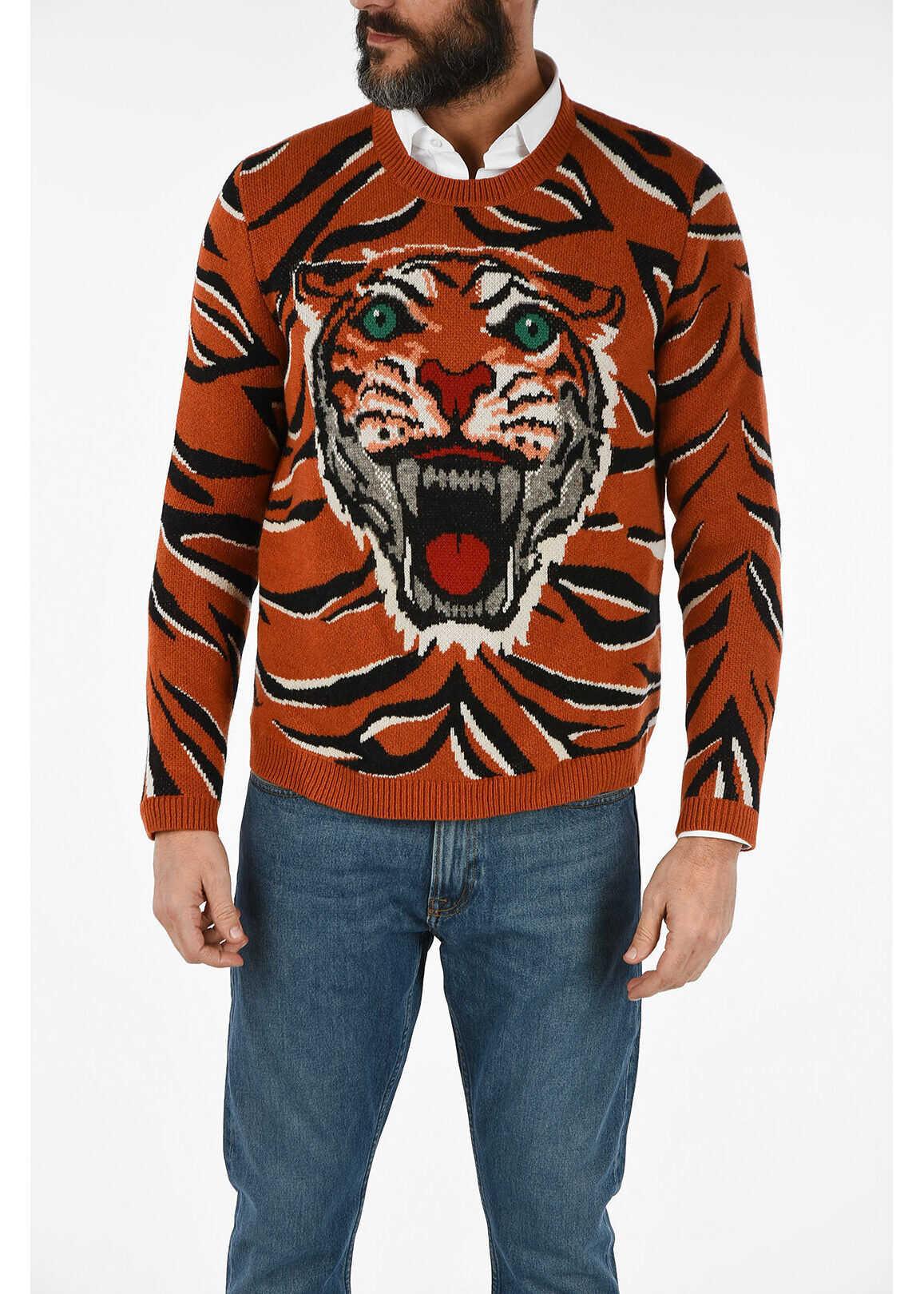 Gucci wool Tiger Jumper MULTICOLOR
